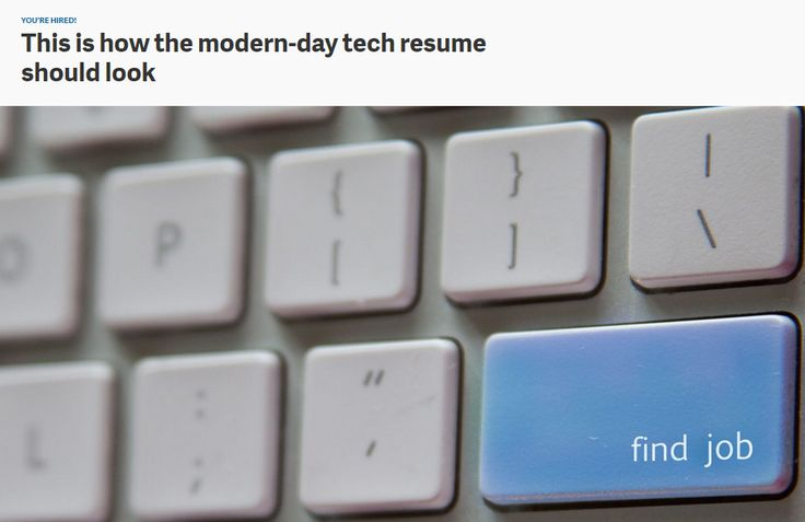 This is how the modern-day tech resume should look - modern day resume