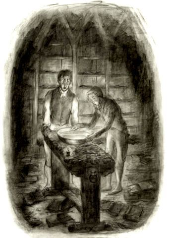 """""""Jonathan Strange and Mr. Norell"""" - illustrated by Portia Rosenberg (book by Susanna Clarke)"""