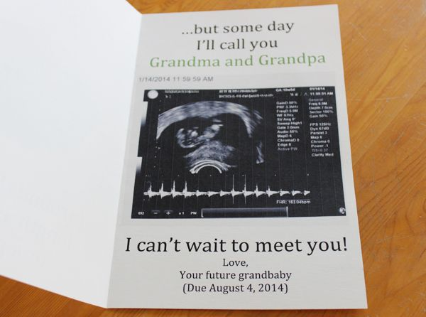 announcing pregnancy to grandparents - Google Search