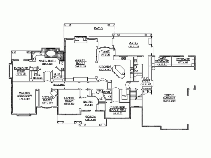 220 best house plans images on pinterest floor plans for Best floor plan ever