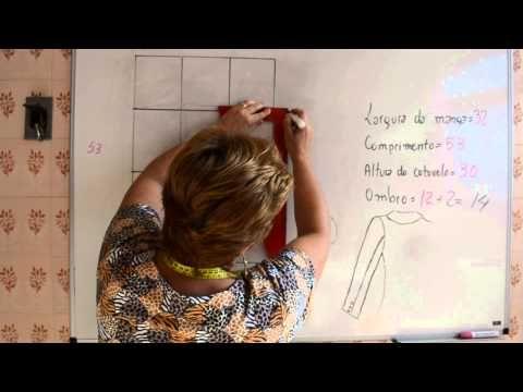 Modelagem de Manga Alfaiate ou Duas Folhas - Aula 34 - YouTube