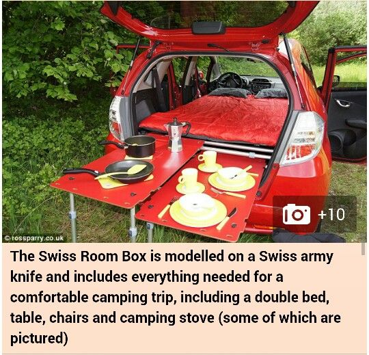 The Swiss Room Box for those that enjoy camping from their SUV.