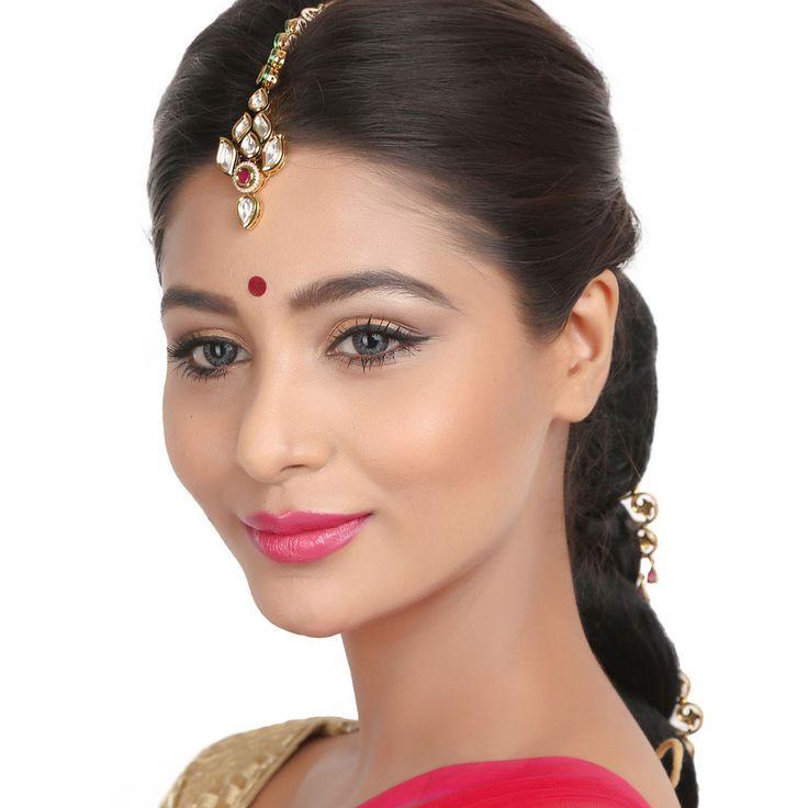 Kundan Tikka TATK07 #Kushals #Jewellery #FashionJewellery #IndianJewellery #WeddingAccessories #Maang Tikka #Kundan