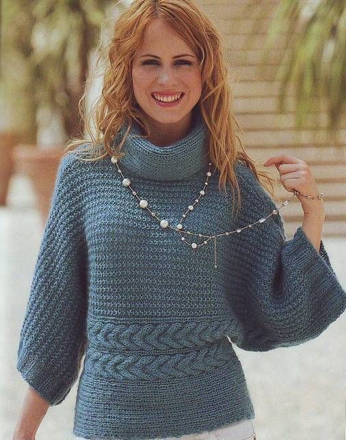 Пуловер — кимоно.