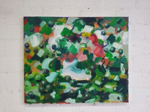 Landschap 50x60cm Acrylic on canvas
