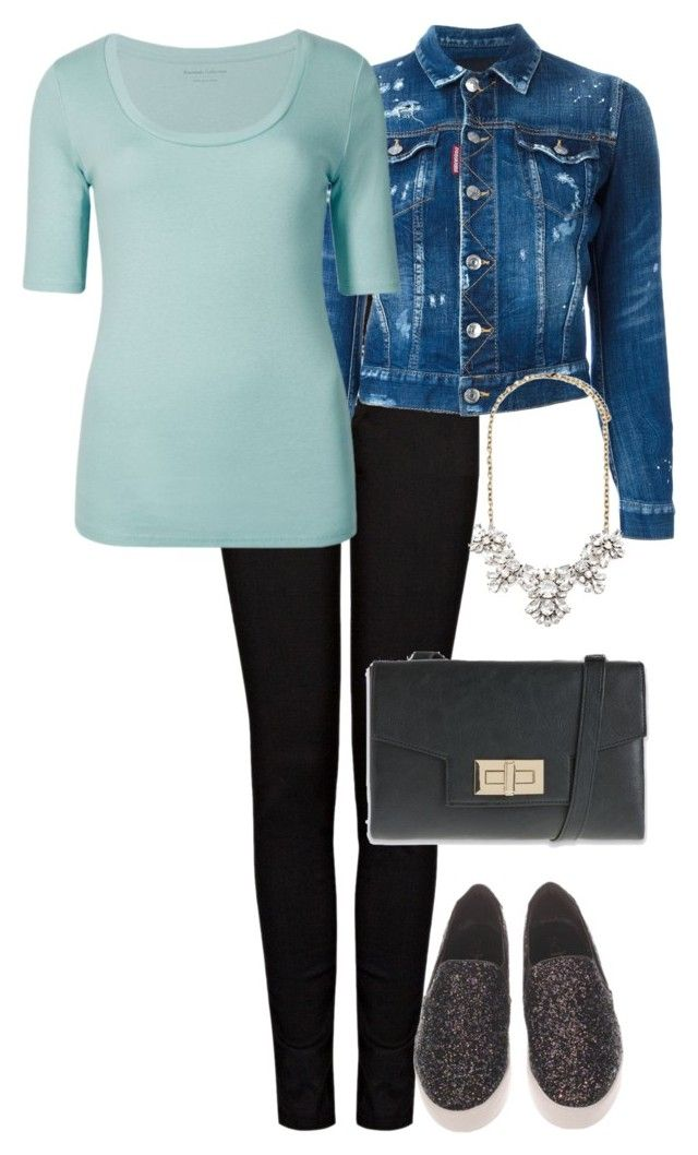 """Office Casual #165"" by amooshadow on Polyvore featuring J Brand, Dsquared2, Marks & Spencer and Forever 21"