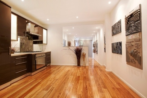 Blackbutt Timber Flooring - Beautiful Kitchen Display