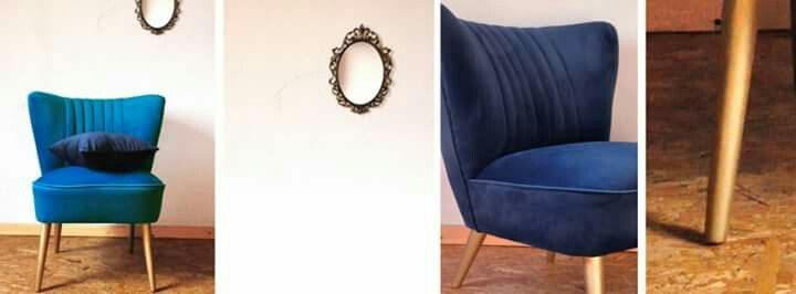 Cocktail chair with french velvet