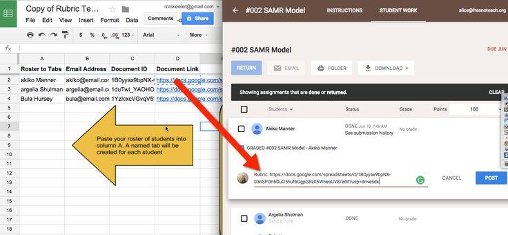 Copy Rubric to Google Classroom