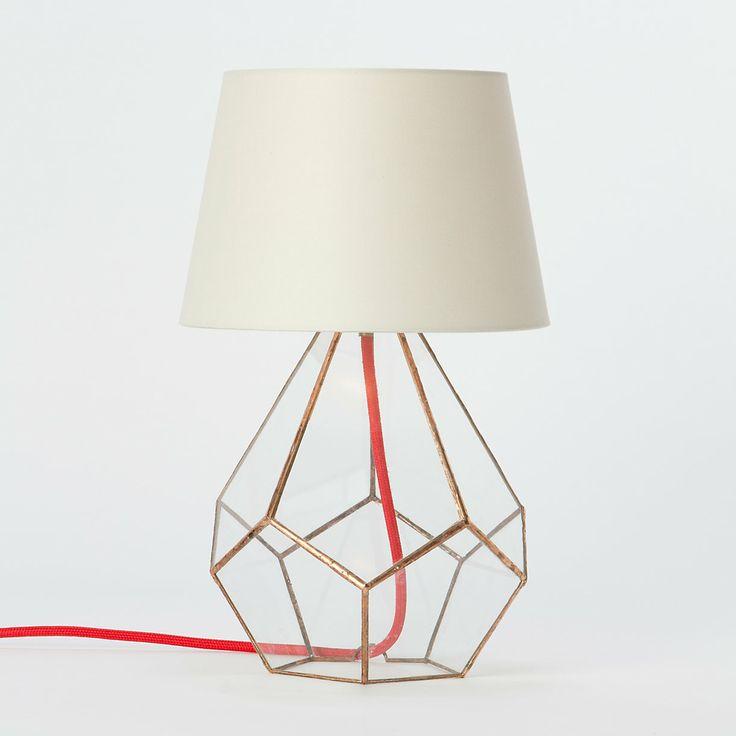 ++ copper prism lamp
