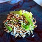 Фото рецепта: Коричневый рис  с семечками и цуккини