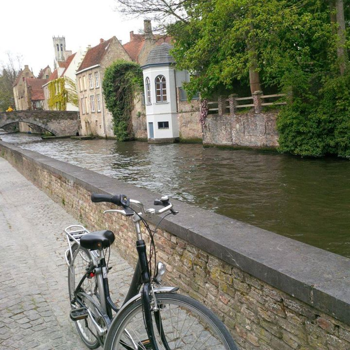 Bicycle ride on the canals in Bruges - priceless