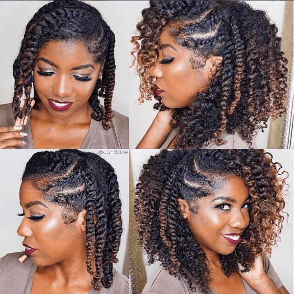 Protective Hairstyles For Natural Hair easy elegant twisted updo summer hairstylesafro hairstylesblack hairstylesnatural hairstylesnatural protective Find This Pin And More On Hair By Fallgirl98