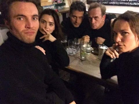 Tom Hughes, Jenna Coleman and Rufus Sewell hit a pub ...
