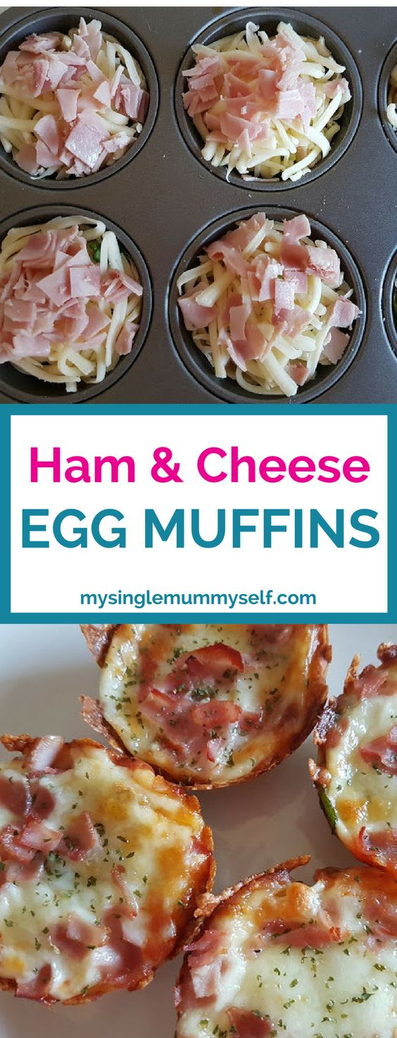 Muffin tray recipe. Ham and cheese egg muffins. Cooking kids will love