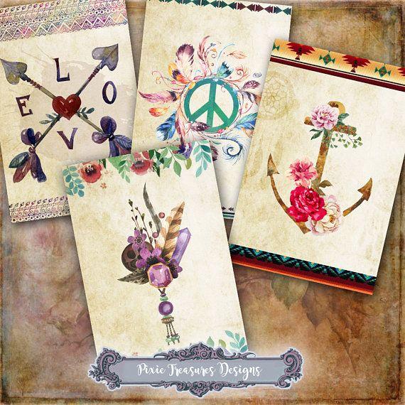 8 Boho Tags #scrapbooking #papercrafts #boho