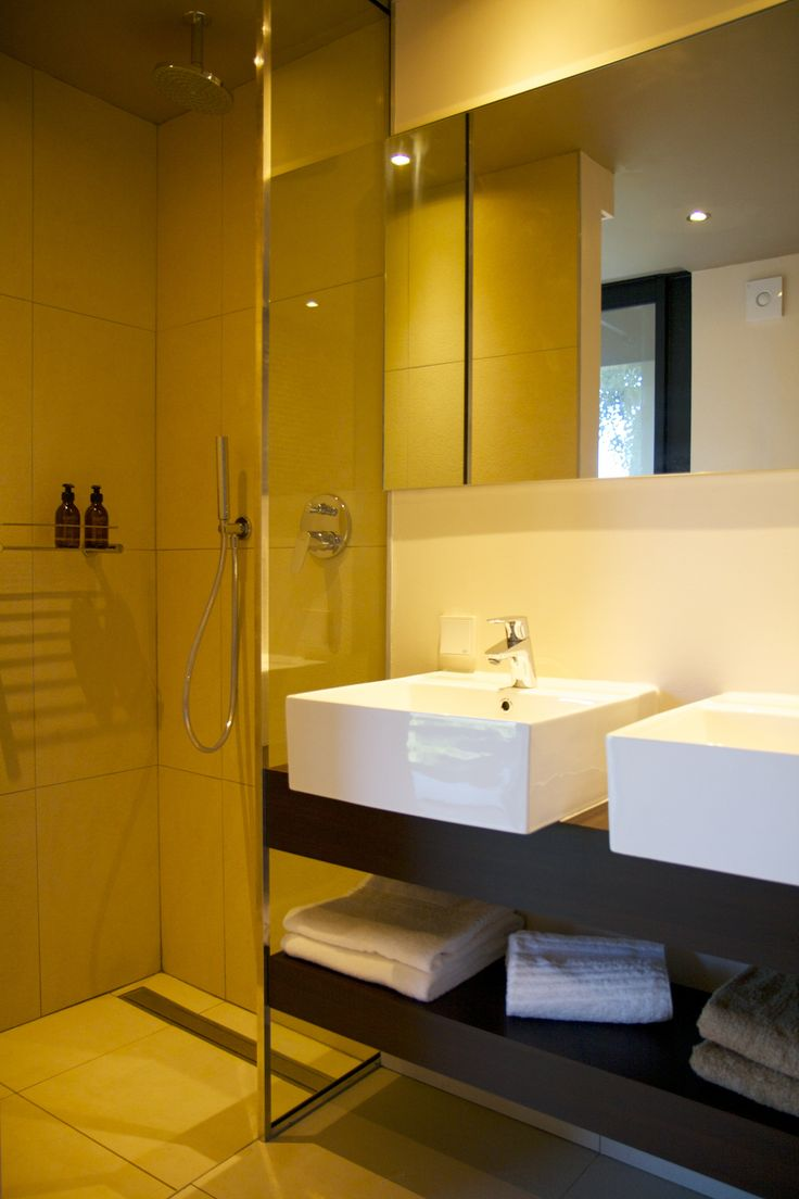 Separate rain shower in all suites bathrooms