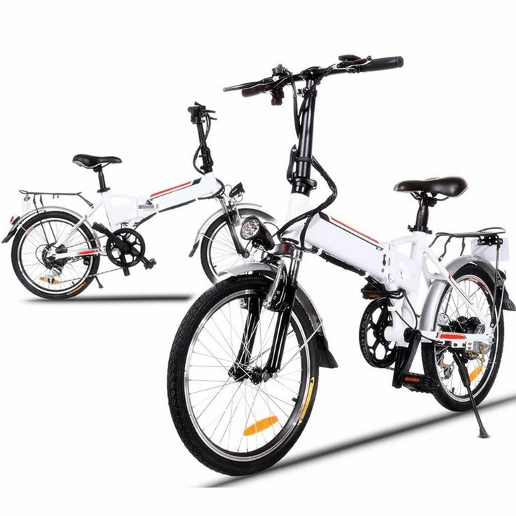Cheesea Aluminum Alloy 250W 36V Frame Folding Electric Mountain Bike Cycling Bicycle White