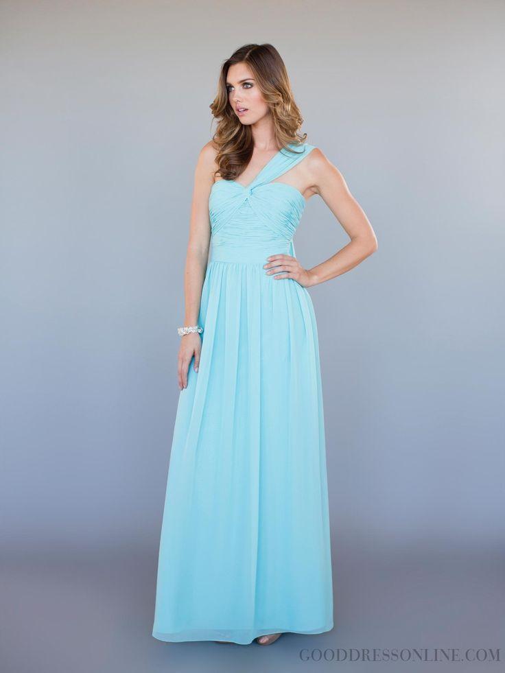 2013 Modern A-line Ankle-length One Shoulder Chiffon Bridesmaid Dresses