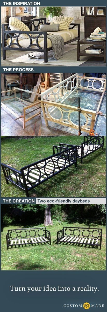 Custom Made 2 Non-Toxic Wooden Daybeds