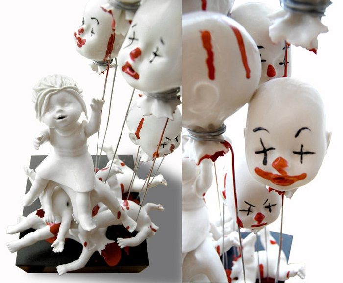 Best Art Images On Pinterest Contemporary Art Paradise Found - Amazingly disturbing porcelain figurines by maria rubinke