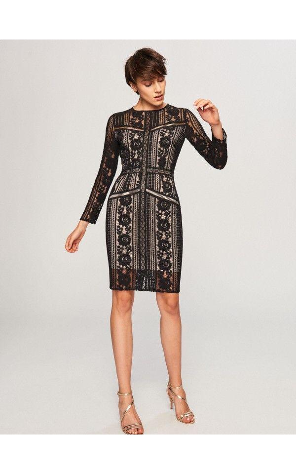 853c8e2100 Koronkowa sukienka