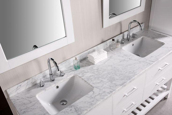 Vanity tops white wood double bathroom marble master bath pinterest vanities granite and