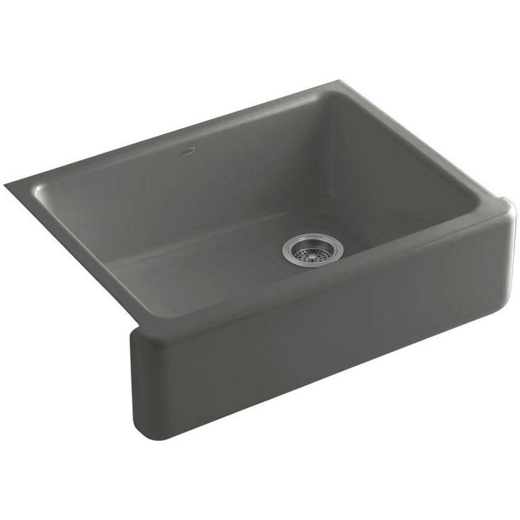 Kohler Dickinson 33 Apron Farmhouse Kitchen Sink Basalt