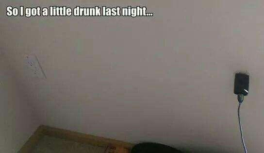 So I got a little drunk last night