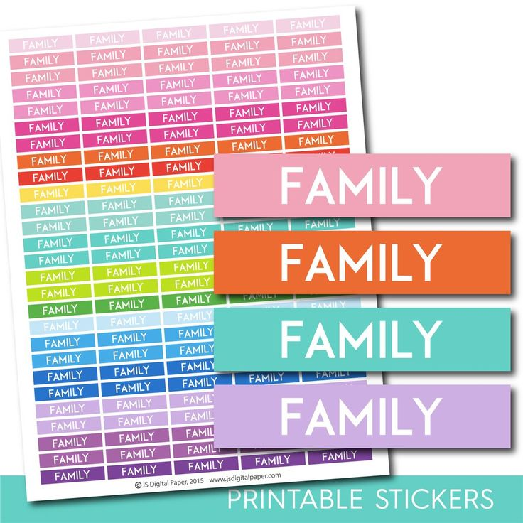 Family stickers, Family planner stickers, Family weekly and monthly planner stickers, STI-727