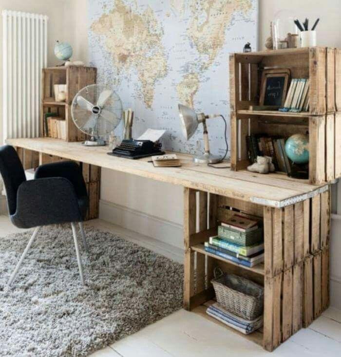 Lovely Coole Ideen, Einrichten Und Wohnen, Schreibtische, Rund Ums Haus, Deko,  Wohnungseinrichtung, Jungszimmer, Büro Ideen, Zimmereinrichtung