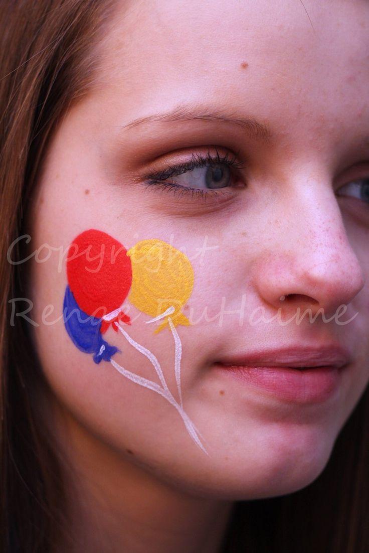 Standard Cheek Balloons by ~renduh-facepaint on deviantART