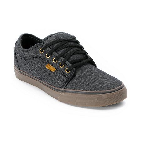 The original Vans Chukka Low is being reinvented with customized colorways and materials. This Zumiez Exclusive from Vans has all of the classic Chukka Low skate shoe features packaged in a slick black denim chambray canvas upper with leather accents and gum sole. The sizes shown are in men's.Shop all Vans Chukka Lows.Check out all   black Vans here.