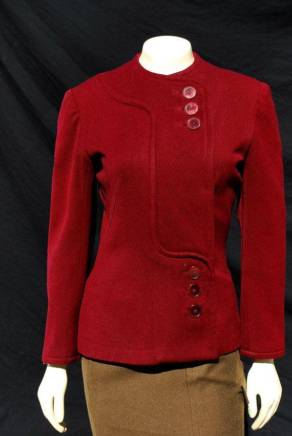 Vintage 40's jacket military inspired WWII wool by thekaliman, $250.00