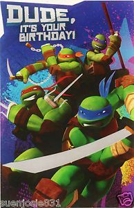 Teenage Mutant Ninja Turtles Happy Birthday Greeting Card