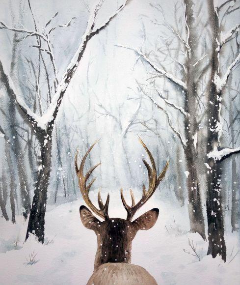 Следуйте За Мной! - Олень, олень в Зимнем лесу