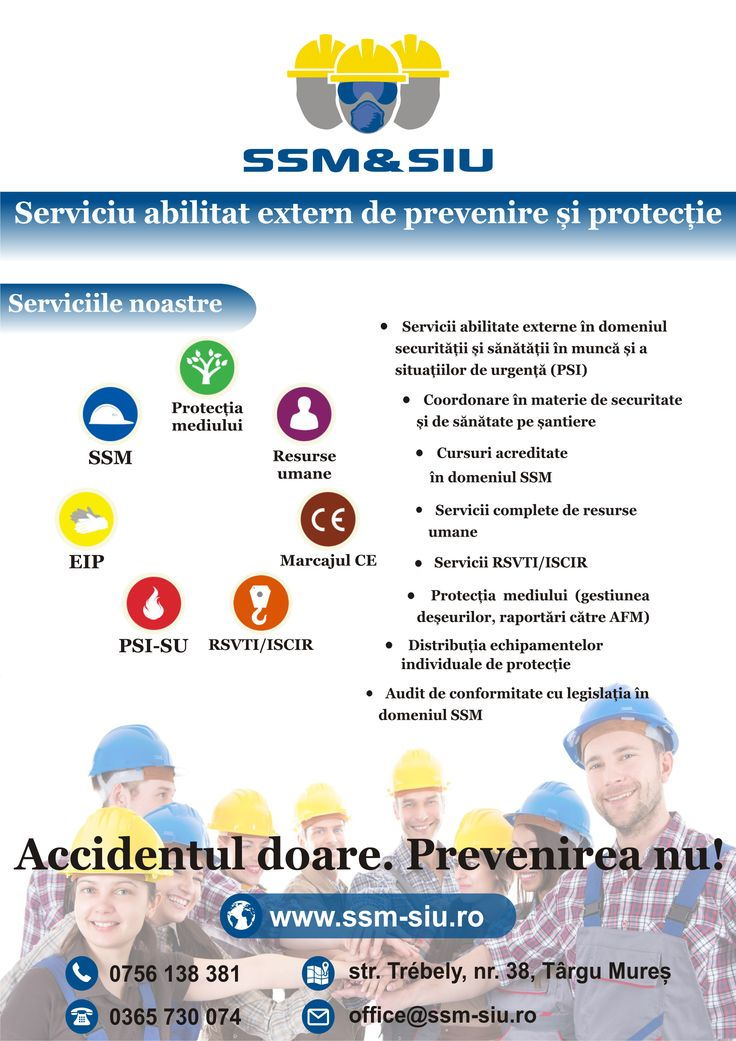 Accidentul doare. Prevenire nu! www.ssm-siu.ro