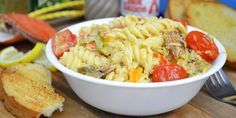 """New Orleans has """"Crawfish Monica,"""" but what about North Carolina? Steve Gordon gets creative in the kitchen and offers a solution with this jazzy blue crab pasta recipe."""