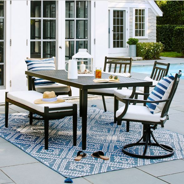 25++ Patio dining set with bench and chairs Trend