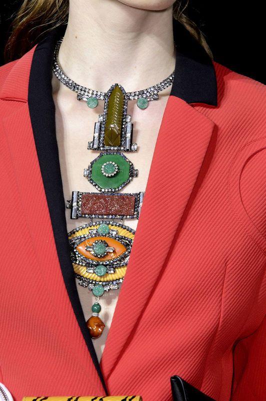 Modna biżuteria [wiosna-lato 2016], Kenzo, fot. Imaxtree