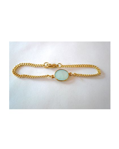 Green Dainty Gemstone Bracelet -