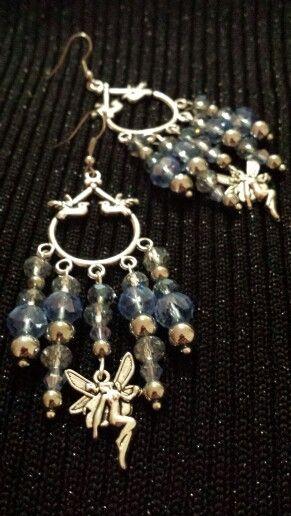 Crystal fairy chandelier earrings