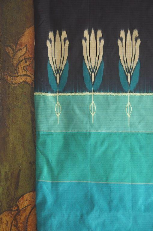 Handloom Pochampally Ikat silk saree hand-picked from rural India by Omnah