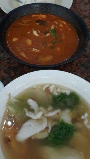 Fish Soup & Seafood Tom Yam Soup at Sop Ikan Yong Kee, Batam