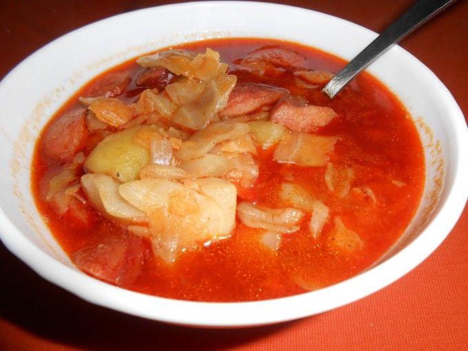 Pikantní zelná polévka