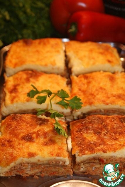 Лазанья дал руссо - кулинарный рецепт