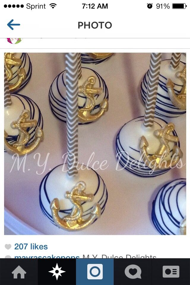 Cake pop nautical