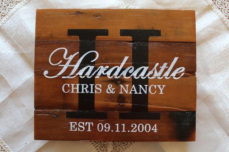 "Wedding & Anniversary Sign - 12""x15"", C$75.00"
