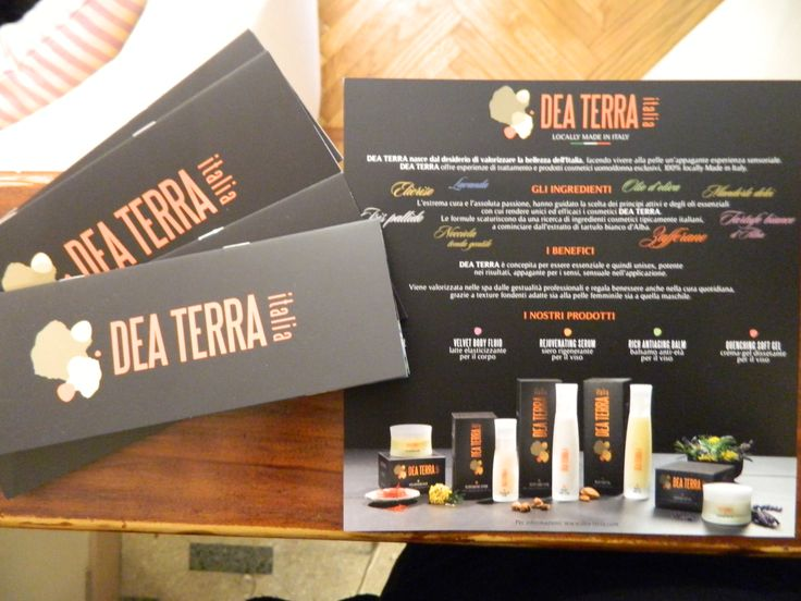 proucts and brochures by DeaTerra Italia