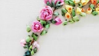 ribbon embroidery tutorial for beginners - YouTube                                                                                                                                                      More